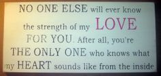 strength of my LOVE for you Baby Mom to be by CottageSignShoppe, $60.00