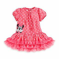 Disney Minnie Mouse Tutu Dress for Baby | Disney StoreMinnie Mouse Tutu Dress for Baby - Baby's head's in a whirl for her sunniest season yet wearing Minnie's flirty polka dot dress with frilly ruffled skirt, puffed sleeves and gathered front. Includes matching diaper cover.