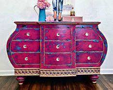 Boho Chic Bombay Dresser, TV Console, Buffet, Entry Piece, Credenza, Closet Island