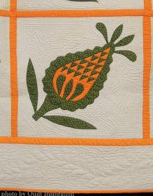 Pineapple Applique quilt, (top), from the International Quilt Festival Collection Old Quilts, Antique Quilts, Vintage Quilts, Applique Patterns, Quilt Patterns, Pineapple Quilt, International Quilt Festival, Green Quilt, Pixel