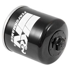 K&N KN-153 Powersports High Performance Oil Filter - Black