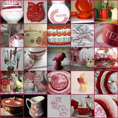 Vintage Red & White Kitchen FUN ! by LHDumes, via Flickr