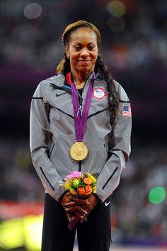 2012 400m Olympic Winner - Sanya Richards-Ross....this woman is amazing.