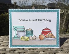 Baked With Love and Milk And Cookies stamp sets and matching dies from Lawn Fawn. Card by Mocha Frap Scrapper