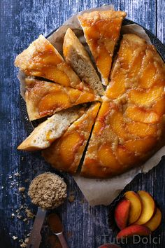 Peach Upside-Down Cake | @andwhatelse