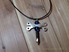 Dragonfly Pendant Necklace - Upcycled Bicycle Chain Link Jewlery