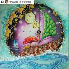 Lindo by @drawing_n_coloring_ #florestaencantada #enchantedforest #johannabasford #jardimsecreto #secretgarden #desenhoscolorir