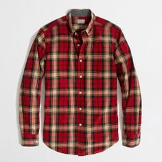 Love the J.Crew Factory washed shirt in bold tartan on Wantering | $30 | sale price | Boxing Week for Him | mens plaid shirt | menswear | mens style | mens fashion | wantering http://www.wantering.com/mens-clothing-item/factory-washed-shirt-in-bold-tartan/agnCZ/