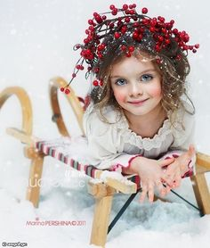 Russian Child Model, Milana Kurnikova - Christmas