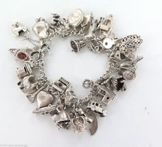 33fa17ccff8b81 If you like Vintage Charm Bracelet, you might love these ideas. VINTAGE  STERLING SILVER ...
