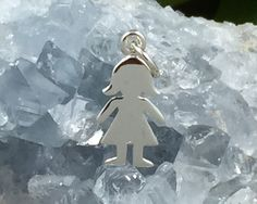 Girl Charm, Child Charm, Paper Doll Charm, Sterling Silver Girl Charm