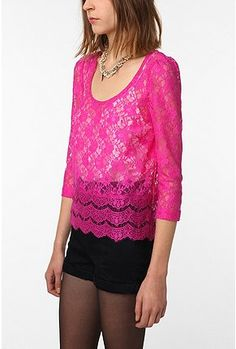 hot pink lace..can't go wrong!