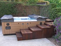 15 Jacuzzi Deck Tips: Techniques of Pro Installers & Designers - Home Bigger Hot Tub Backyard, Hot Tub Garden, Spas, Whirlpool Deck, Hot Tub Surround, Sunken Hot Tub, Living Pool, Tub Enclosures, Hot Tub Cover