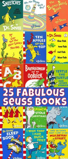 A fabulous list of the best of the best Dr Seuss titles.