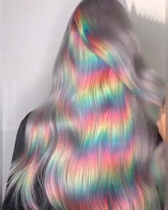 Creative Hairstyles, Cool Hairstyles, Rainbow Hairstyles, Curly Hair Styles, Natural Hair Styles, Natural Hair Colour, Hair Dye Colors, Rainbow Hair Colors, Ombre Hair Colour