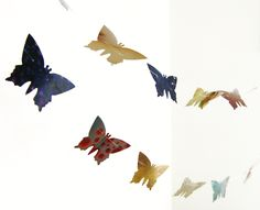#colorful #butterflies paper #garland by #verapaperlab on #etsy - pinned by pin4etsy.com