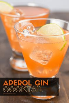 Looking for a fun cocktail to serve? If you are a gin lover, this cocktail is for you! The Aperol Gin Cocktail is a refreshing drink filled with gin, cucumber and lime. Gin Cocktail Recipes, Coctails Recipes, Alcohol Drink Recipes, Cocktail Drinks, Gin Recipes Food, Lemon Recipes, Aperol Drinks, Alcoholic Drinks, Beverages