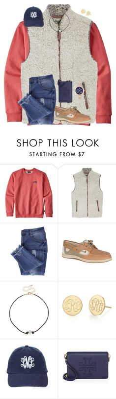 """""""i actually got this same hat for christmas from marleylilly rtd"""" by preppy-renee ❤ liked on Polyvore featuring Patagonia, True Grit, Essie, Sperry, City Streets, Sarah Chloe, Tory Burch and MICHAEL Michael Kors"""