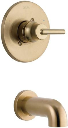 View the Delta T14159-CZ Champagne Bronze Tub Trim Only - Less Rough-In Valve at Build.com.