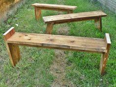 DIY Benches- Really good looking!