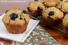 Blueberry muffins get a boost with oats in this yummy recipe from @4loveofcooking