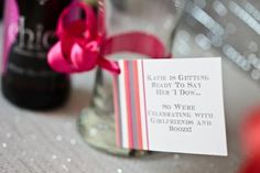 """""""_____ is getting ready to say her 'I Do's"""" so we're celebrating with girlfriends and booze!""""  SOOO CUTE!!!  Hostess with the Mostess® - Beer & Bra Bachelorette Party"""