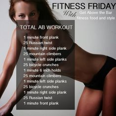 A bit of Fitness Friday for those wanting a core ab workout