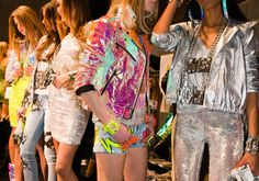 Looks like iridescent is in! Milan Fashion Week 2012.