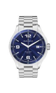 Claude Bernard Men's 70167 3B BUIN Aquarider Blue Dial Stainless Steel Date Watch claude bernard. $260.00. Blue dial with date window. Second-hand feature. Minute track on blue pvd coated bezel ring. Luminous hands and hour markers. Water-resistant to 100 M (330 feet)