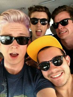 Tyler Oakley, Troye Sivan, Connor Franta, and Korey Kuhl