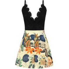 Yoins Black Lace Contrast Spaghetti Beach Playsuit  S/M (16 CAD) ❤ liked on Polyvore featuring jumpsuits, rompers, dresses, playsuit, suits, black, jumpsuits & rompers, black romper jumpsuit, lace romper and black halter top