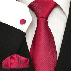 Luxury Claret Wedding Tie Sets - Plain Tie Sets - Ties N Such