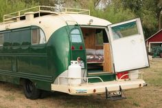 The Emerald Gypsy - Vintage Bus Conversions (Exterior End View)