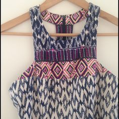 Plenty by Tracy Reese print shift dress Beautiful dress with tribal print and cool unique back. Super form fitting. Zipper back closure. New and never worn! Love it but it's just not my style. Looking for a new home. :) Viscose/rayon/spandex blend. Soft polyester lining inside. Tracy Reese Dresses Mini