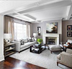 Living Room. Living Room Decor. Gray Living room with transitional decor. #LivingRoom