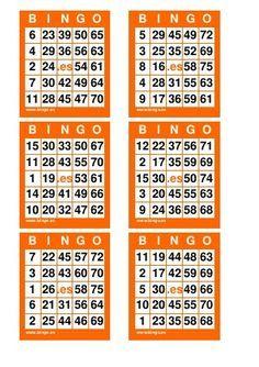 11 Ideas De Bingo Cartas De Bingo Tablas De Bingo Cartones De Bingo