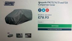 Maypole VW Camper cover for sale on Autocroc Vw Camping, Camping World, Sale On, Cars For Sale, Van Life, Motorhome, Volkswagen, Camper, Buy And Sell