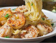 Crispy Cajun Shrimp Fettucini
