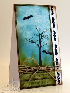 **OR** change out bats for birds/butterflies & make it a happy card