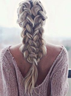 The braided hairstyles are not only fashionable but look exceptionally classy. Braiding on long hair requires special skills. Beautiful Braids, Gorgeous Hair, Pretty Hairstyles, Braided Hairstyles, Unique Hairstyles, Hairstyle Ideas, Wedding Hairstyles, Strong Hair, Short Hair