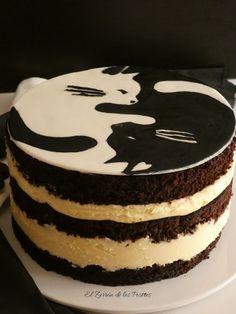 El Zurrón de los Postres: Cake Yin Yang Cat