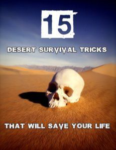 The desert is one of the most deadly places to survive. Increase your chances with these tips and tricks that will give you an edge in any hot environment. The desert leaves hundreds of people in life threatening situations every year. Sadly, it succeeds Survival Supplies, Camping Supplies, Survival Food, Camping Survival, Outdoor Survival, Survival Knife, Survival Prepping, Emergency Preparedness, Survival Skills