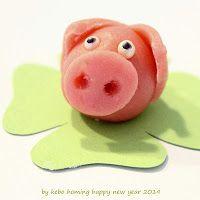 kebo homing: Ein kleines süßes Marzipanschweinchen entsteht... Tutorial