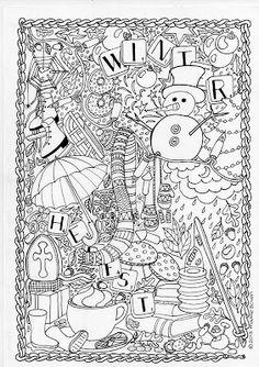 Kleurplaten Winter Voor Volwassenen.78 Populaire Afbeeldingen Over At School Kleurplaten Coloring