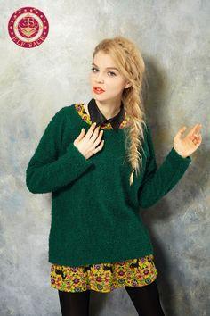 Women's Loose Fashion Round Neck Sweater,$49