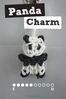 How to make Rainbow Loom Panda Charm, How to use your Rainbow Loom, Rainbow Loom Instructions, Buy Black and White Loom Bands for Loom Kit, Video Tutorials for Rainbow Loom Band Kit Rainbow Loom Tutorials, Rainbow Loom Patterns, Rainbow Loom Creations, Rainbow Loom Bands, Rainbow Loom Bracelets, Loom Band Animals, Rainbow Loom Animals, Rainbow Loom Keychain, Rainbow Loom Charms