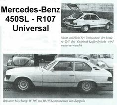 Mercedes-Benz 450 SL hatchback Mercedes Slc, Mercedes Benz Germany, Mercedes Concept, Mercedes Benz Maybach, Shooting Break, M Benz, Daimler Benz, Bmw, Station Wagon
