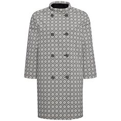 Keep it classic and stylish in this Jaeger Jacquard Diamond Coat #JL150
