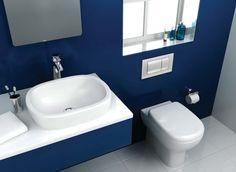 Trendy Blue Bathroom Ideas Of Bathroom Interior Design Bathroom , Bathroom Design Ideas , Bathroom Interior Indian Bathroom, Silver Bathroom, White Bathroom Tiles, Indian Kitchen, White Tiles, Simple Bathroom Designs, Modern Bathroom Design, Royal Blue Bathrooms, Small Bathrooms