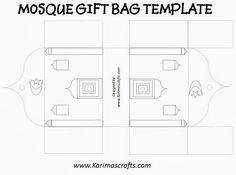 mosque gift bag template ramadan crafts islam muslim Karimas Crafts